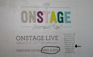 On stage next event dates